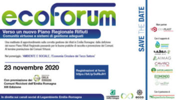 Ecoforum 2020: verso un nuovo Piano Regionale Rifiuti